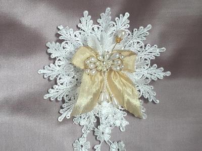 Shabby chic flowers series pt 1, elegant lace flower
