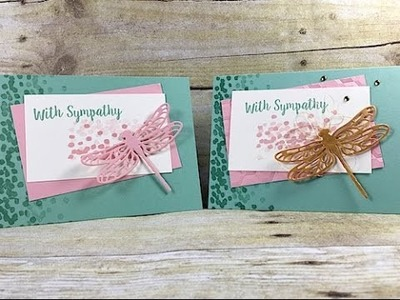 Simply Simple NOW or WOW Flash Card - With Smpathy Dragonfly by Connie Stewart