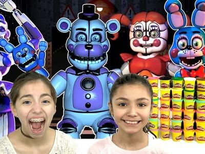 Sister Location FNAF  Play Doh Challenge | KidToyTesters