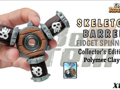 SKELETON BARREL FIDGET SPINNER | Clash Royale | Polymer Clay Tutorial