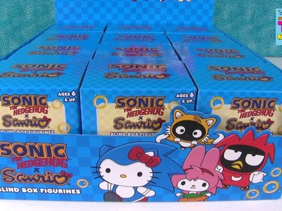 Sonic The Hedgehog X Sanrio Hello Kitty Figures Blind Box Opening | PSToyReviews