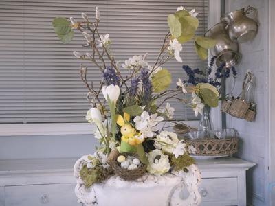 Spring Flower Easter Urn Floristry Tutorial
