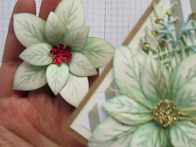 Stampin' Up Poinsettia flower tutorial
