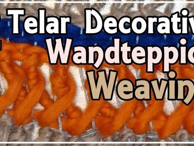Telar Embarrilado entrelazado. Weaving Intertwined Stitch. Weben Verflochten Masche. Lana Wolle