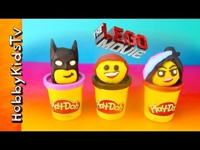 The LEGO Movie PLAY-DOH Surprise Toy Eggs! Emmet, Batman, WyldStyle, Police Robot