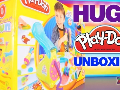Unboxing Play-Doh Fun Factory 50th Anniversary Set, Sneak Peak: 45+ Accessories +10 Tubs by Hasbro