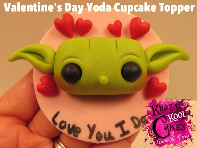 Valentine's Day Yoda Cupcake Topper: Valentine's Day Collaboration with Haniela's