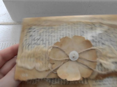 Vintage style sewn envelope. Tutorial. ( part 1 )