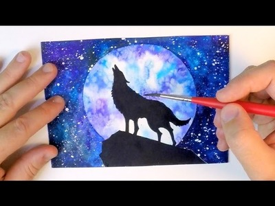 WATERCOLOR PAINTING - HOW TO PAINT NIGHT SKY