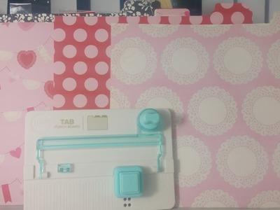 We R Memory Keepers Tab Punch Board Make 12 inch file folders