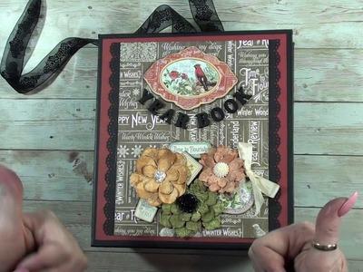 Year Book  mini album accordeon ( Time to Flourish ) graphic 45 for sale