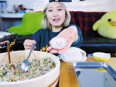 1. How to Make [DUMPLINGS] at home! cooking.mukbang