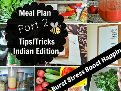 12 Meal Planning Tips For Beginners [ Part 2 ] | Indian Weekly Meal Planning in Hindi