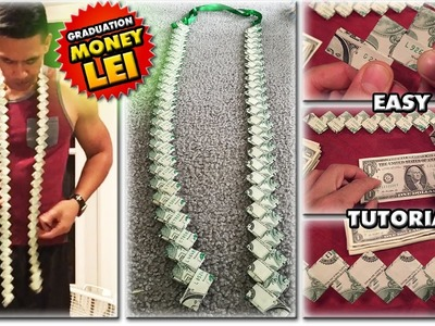 2017 HOW TO MAKE A MONEY LEI | NEW FLAT CHAIN STYLE | TUTORIAL | GRADUATION CORD | 1080p60