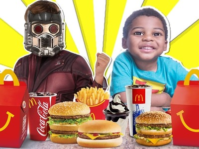 BAD BABY HOW TO MAKE MCDONALDS BIG MAC AND FRIES CHALLENGE KID TOY STAR LORD GUARDIANS OF THE GALAXY