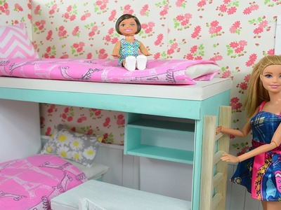 Barbie Movie! How To Make A Barbie Bunk Bed & Complete Bedroom!