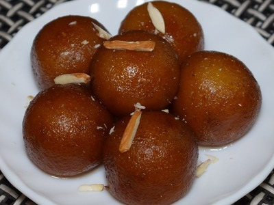 Bread Gulab Jamun Recipe  - How to make Gulab Jamun with Bread - Instant Gulab Jamun Recipe