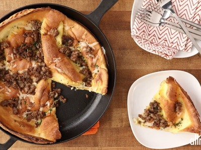 Breakfast Recipes - How to Make Herb Sausage Cheese Dutch Baby