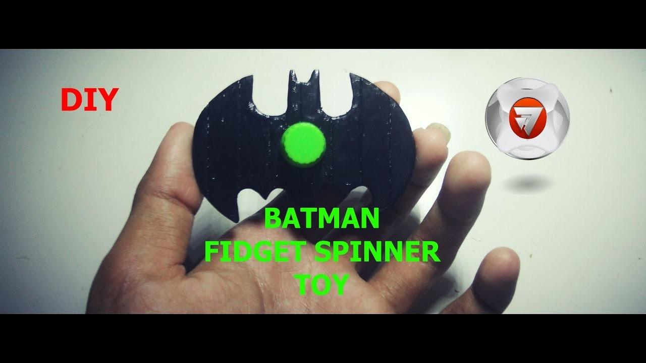 Cara membuat fidget spinner batman dari stik es krim