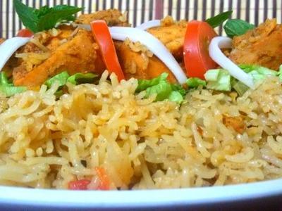 Chicken Tikka Pulao Recipe(In Urdu.Hindi)How To Make Pakistani Style Chicken Tikka Pulao At Home