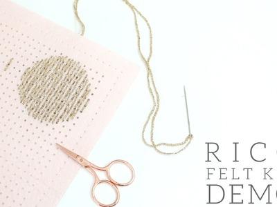 CRAFTS: How to Backstitch PLUS Rico Felt Kit Demo.Tutorial | Bella Coco