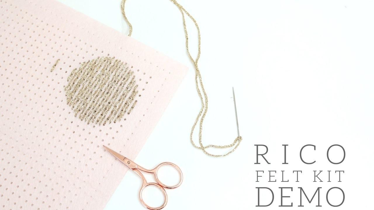 CRAFTS: How to Backstitch PLUS Rico Felt Kit Demo.Tutorial   Bella Coco