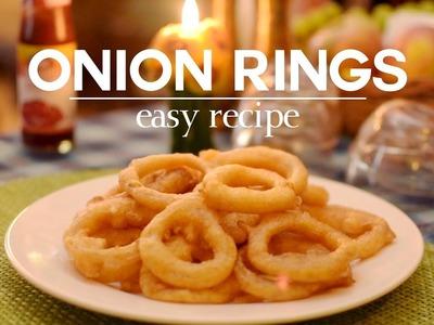 Crispy Onion Rings Recipe | How to Make Onion Rings | Yummy Nepali Kitchen