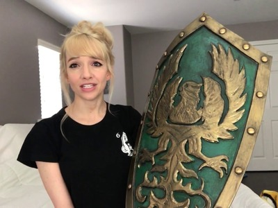 Dark Souls III Golden Wing Crest Shield | How to Make a Curved Cosplay Shield