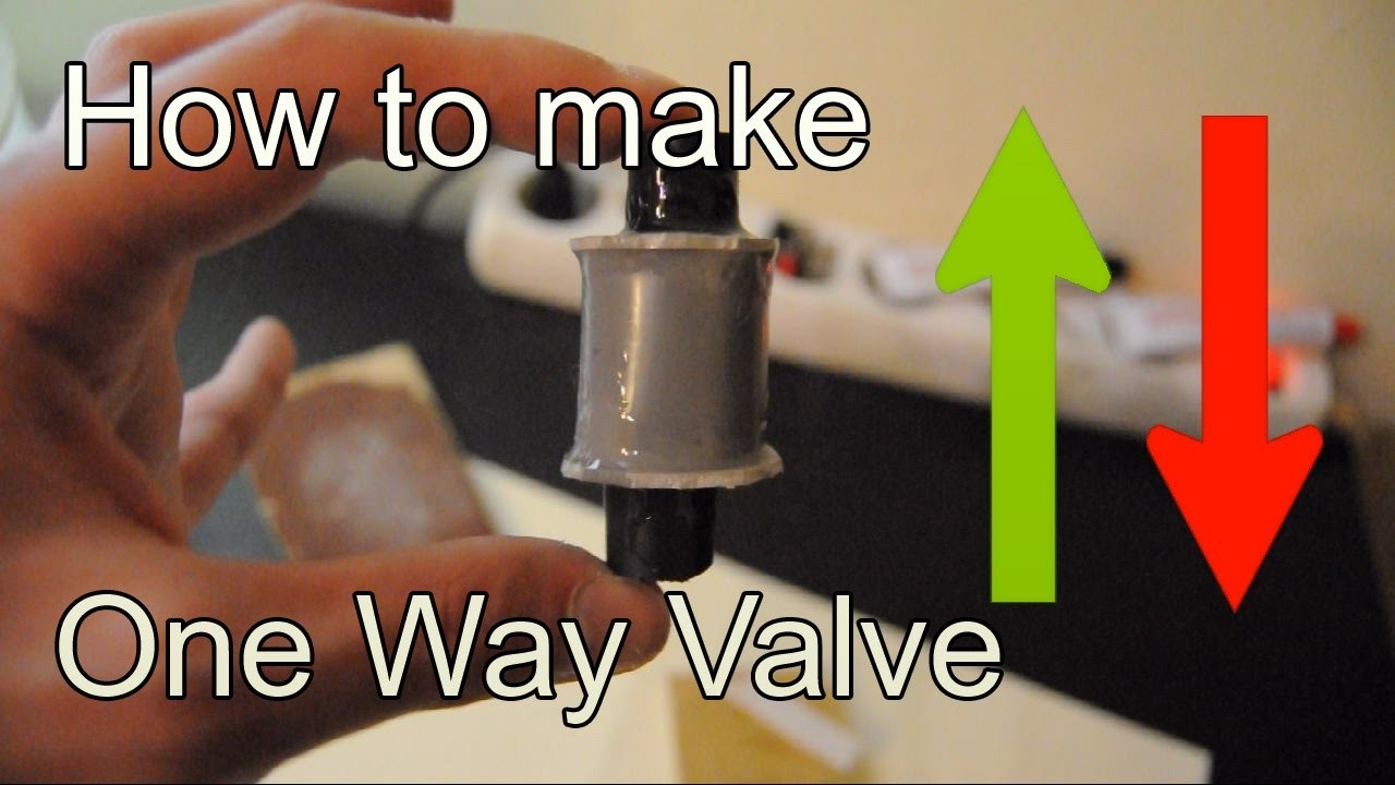 Diy How To Make Check Valve Using A Pvc Pipe One Way Valve My Crafts And Diy Projects
