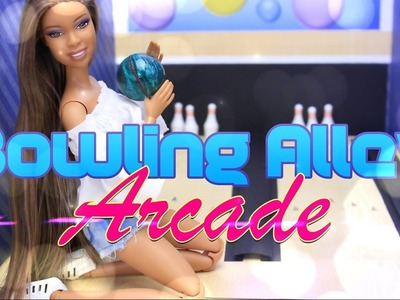 DIY - How to Make: Doll Bowling Alley PLUS Arcade | Handmade Doll Room Crafts - 4K