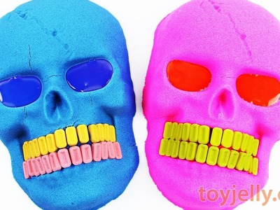 DIY How to Make Kinetic Sand Mask Head Learn Colors Hulk Pez Baby Doll Bath Time Nursery Rhymes