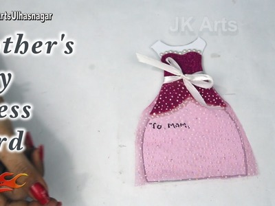 DIY Mother's Day Dress Card | How to make | JK Arts 1212