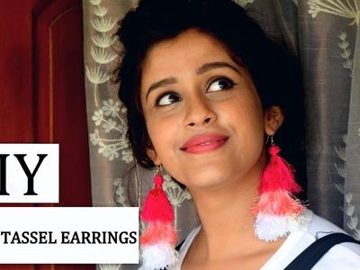 DIY Ombre Tassel Earrings|How to make silk thread Tassel earrings at home.jewellery making| Prithivi