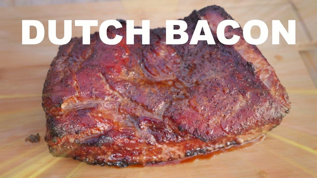 DUTCH BACON - How to make Bacon - Home made bacon