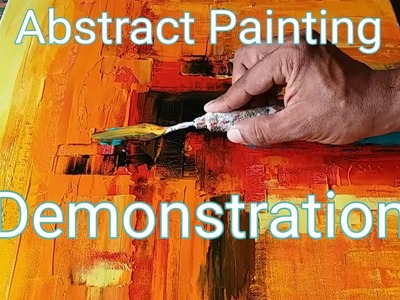 Easy Abstract Painting Demonstration. How to make easy and simple abstract painting