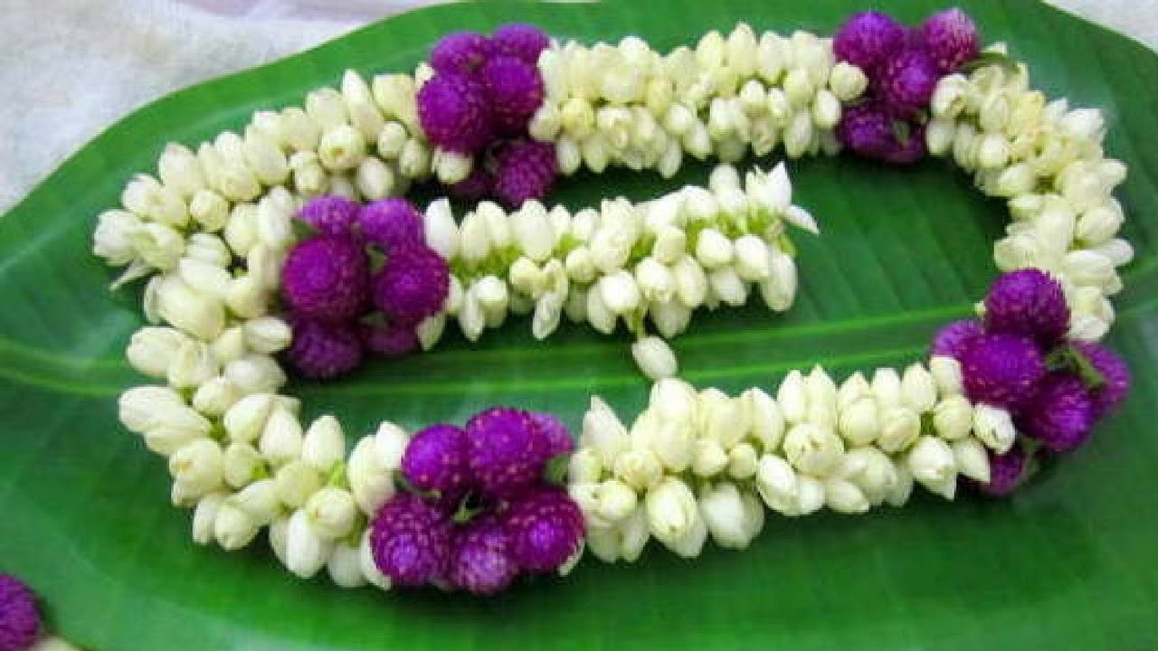 Easy method to make jasmine garland | How to make flower Garland | Rainbow Rangoli