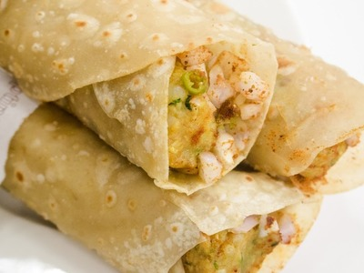 Frankie Recipe   How to Make Street Style Veg Franky Roll Recipe at Home   Indian Street Food