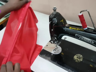 How to Attach Back Zip in Kameez   Square Back Neck Stitching