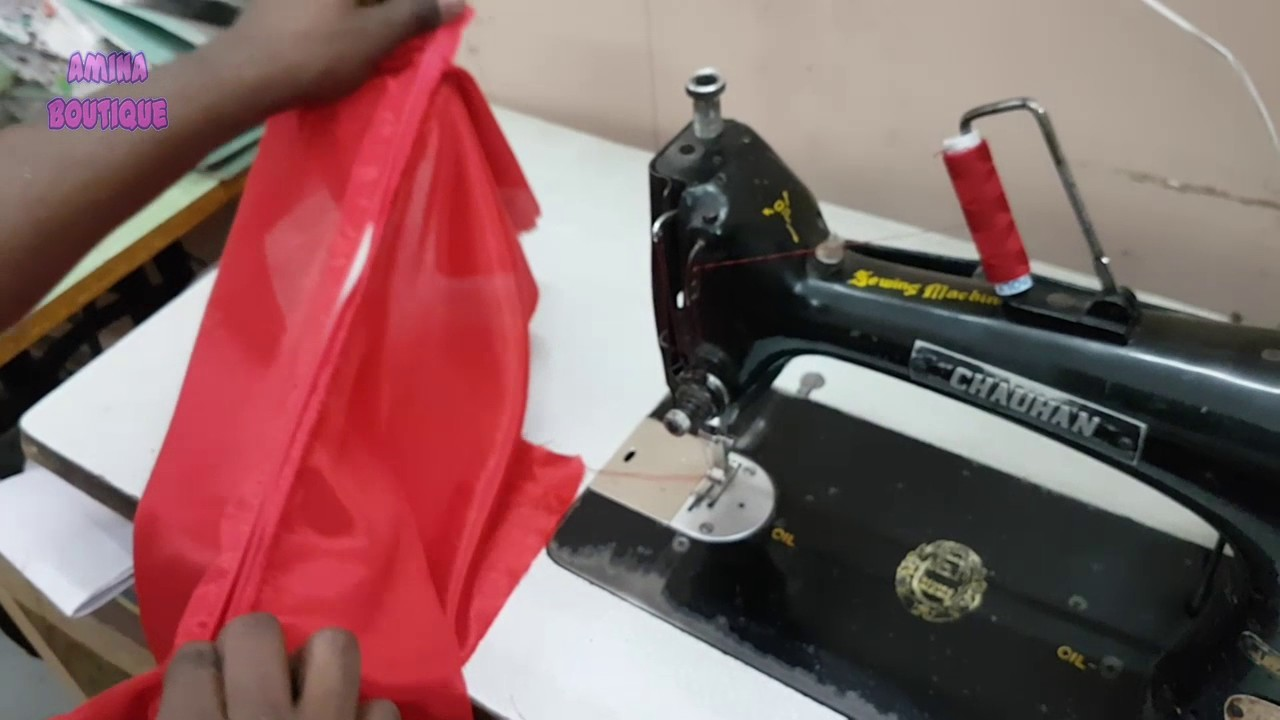 How to Attach Back Zip in Kameez, Square Back Neck Stitching