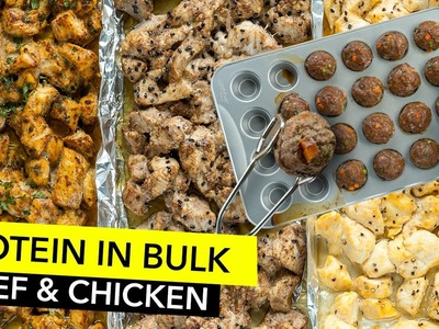 How to Cook Protein in Bulk - Chicken & Beef Meal Prep. Cocer Proteína en Grandes Cantidades