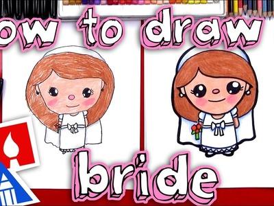 How To Draw A Cartoon Bride