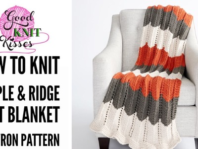 How to Knit Ripple and Ridge Afghan featuring Bernat Beyond