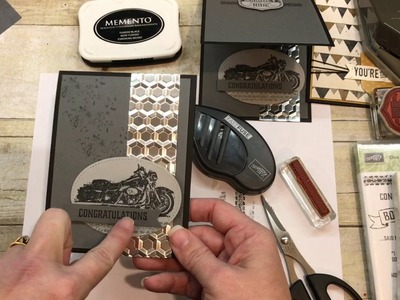 How to make 2 simple Masculine Cards with Stampin Up's One Wild Ride and Urban District