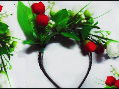How To Make A Beautiful Flower Hair Band - Hair band making tutorial.