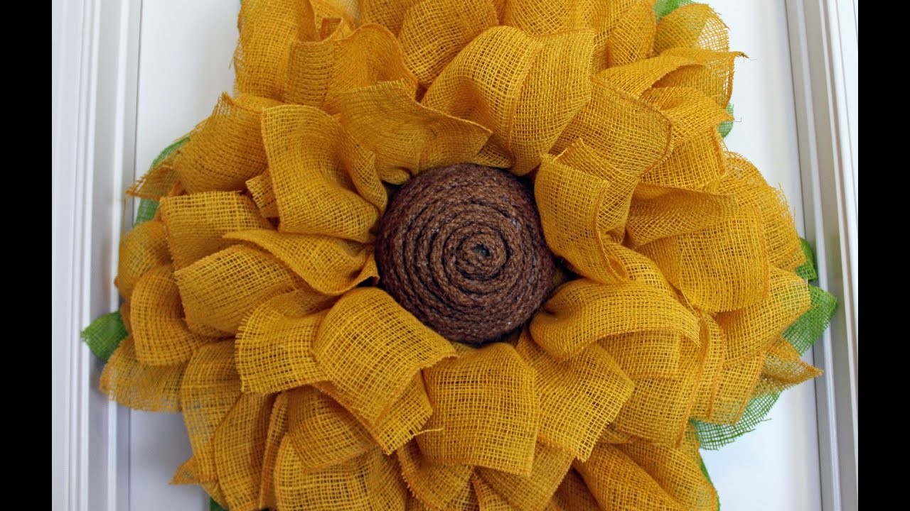 How To Make A Burlap Sunflower Wreath