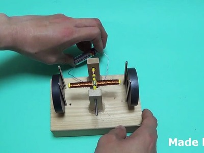 ✔ How to make a DC motor