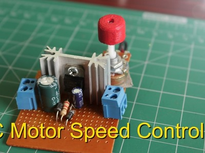 How to Make a DC Motor Speed Controller || Lm317 Variable Voltage Regulator