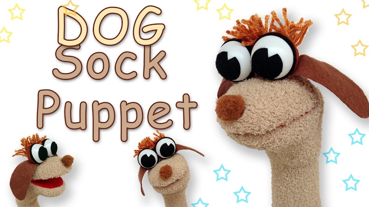 How to make a Dog Sock Puppet - Ana | DIY Crafts