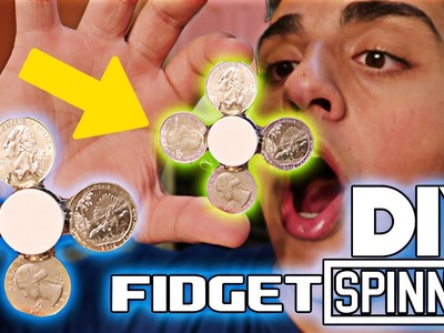 How To Make a FIDGET SPINNER out of Quarters! (DIY COIN FIDGET SPINNER) $1 Fidget Spinner