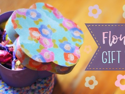 How To Make A Flower Shaped Gift Box ????   Mother's Day
